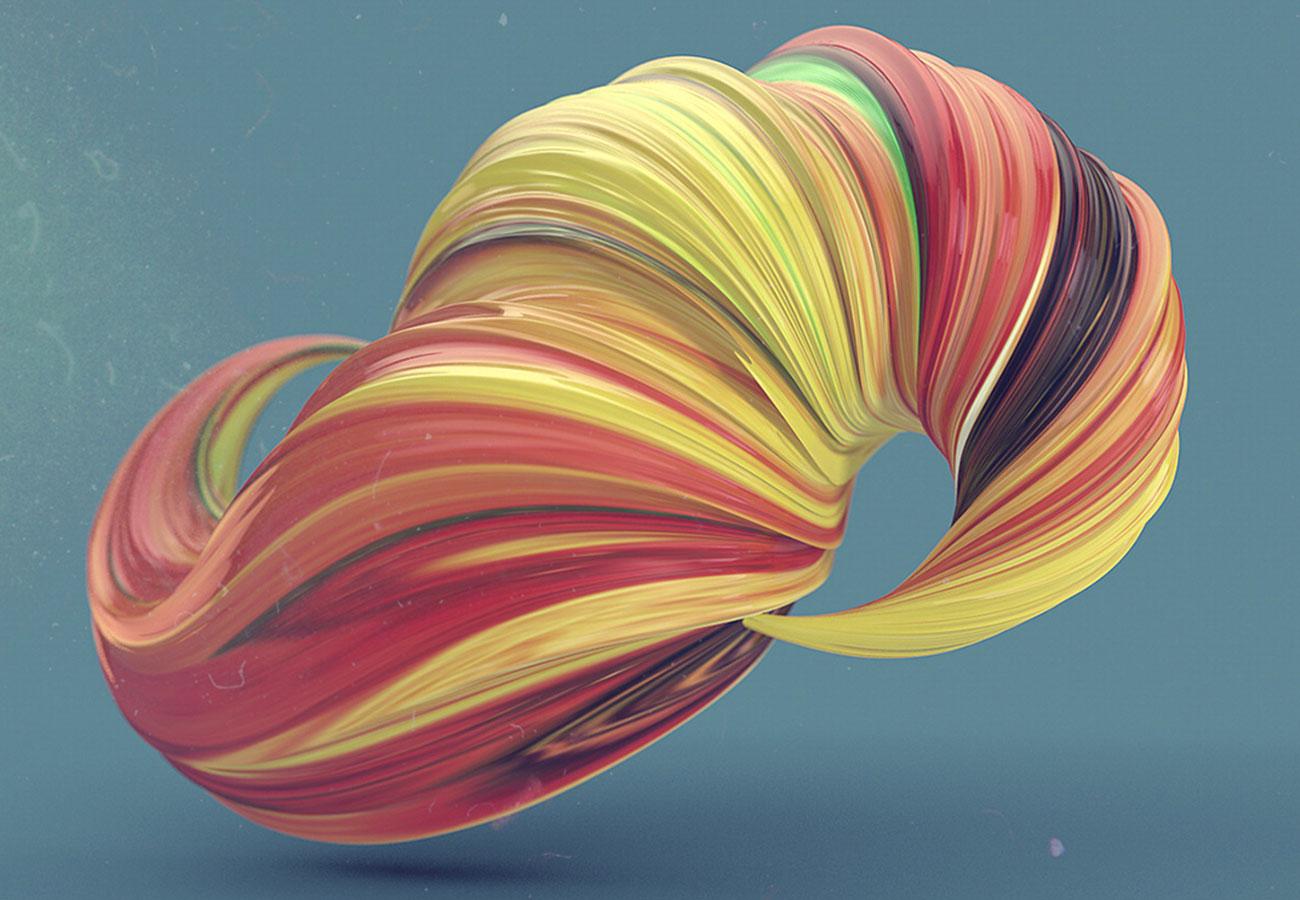 Random Swirls (Cinema 4D)