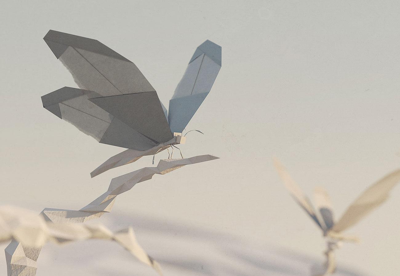 Paper Butterfly (Cinema 4D)