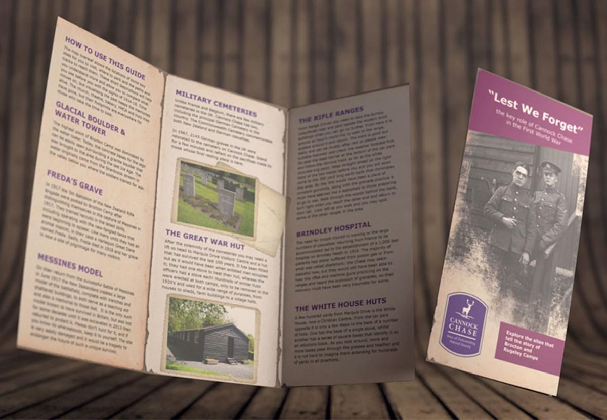 Cannock Chase leaflet trifold design